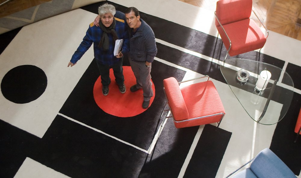 Pedro Almodóvar and Antonio Banderas on the set of The Skin I Live In (2011)