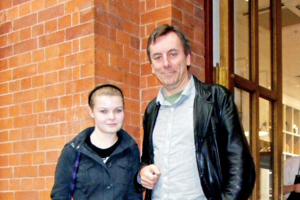 Kate with S&S editor Nick James