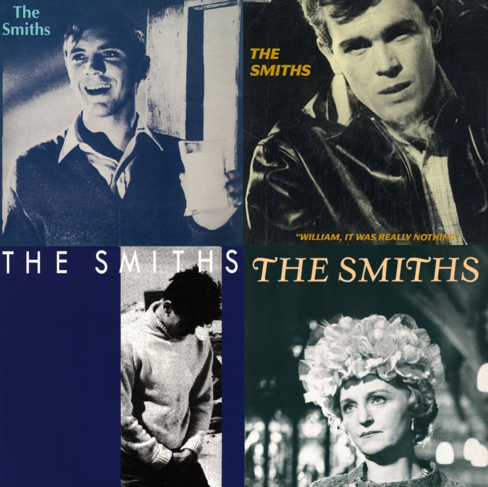Composite of The Smiths singles covers