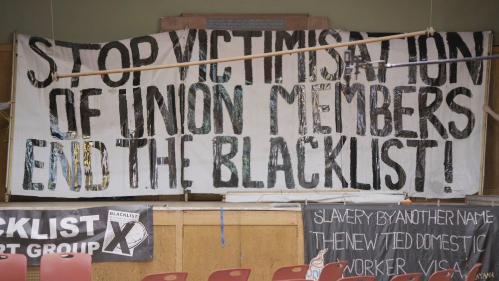 Lucy Parker's Solidarity workshops a better future with blacklisted workers