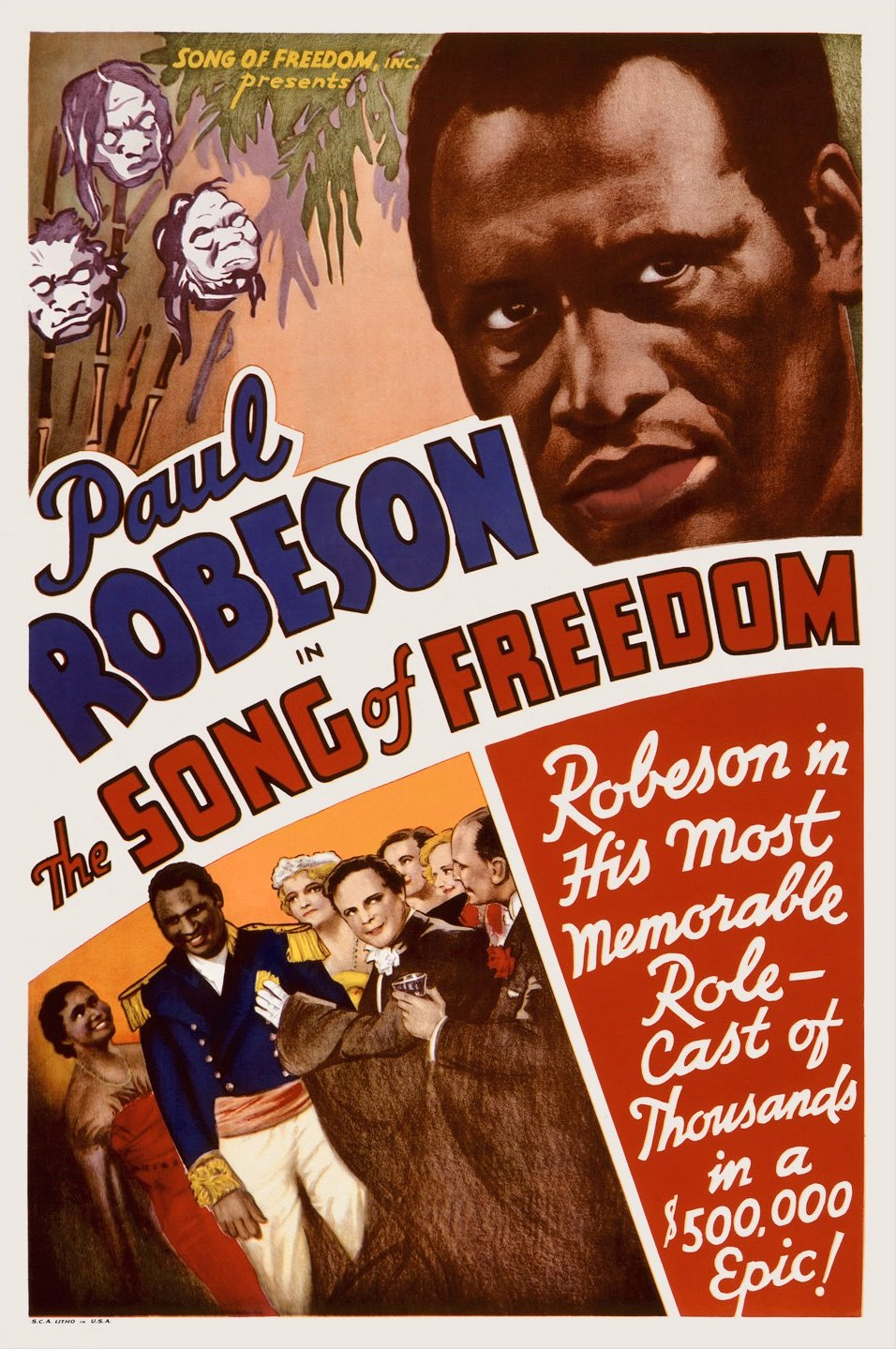 Song of Freedom (1936) poster