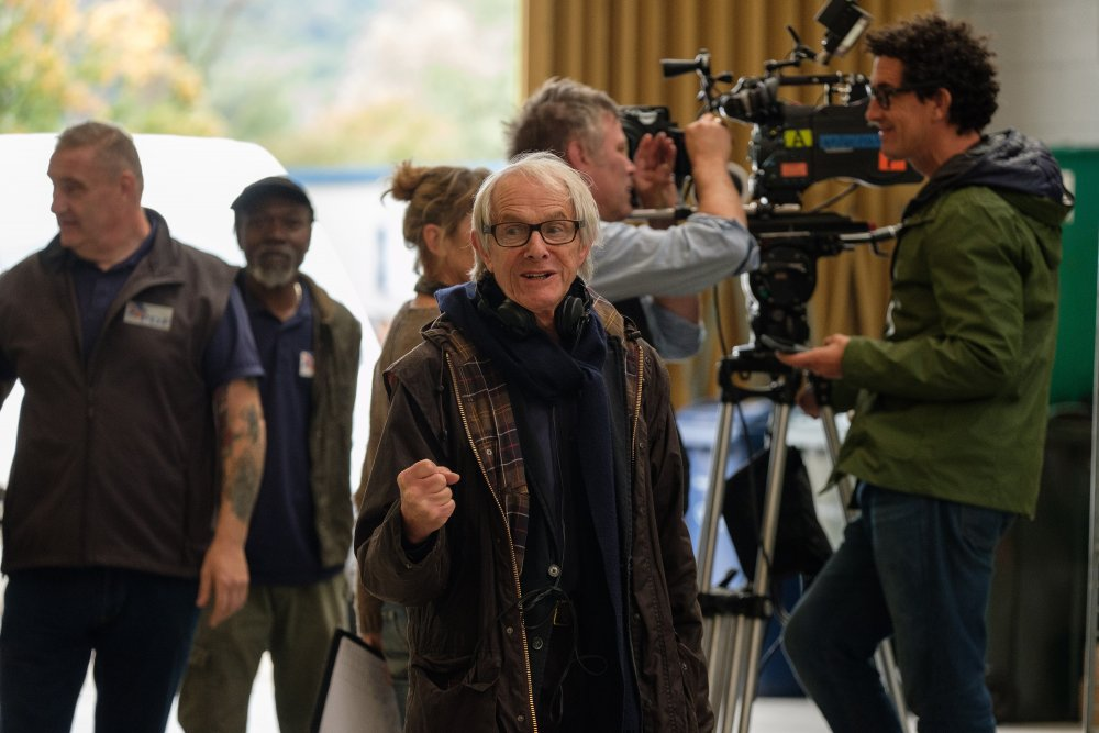 Ken Loach filming Sorry We Missed You (2019)