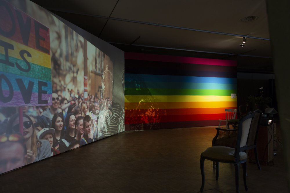 Cauleen Smith's slide projector installation Space Station Rainbow Infinity 'added a pop of colour that was otherwise absent in an exhibition reliant on darkness'