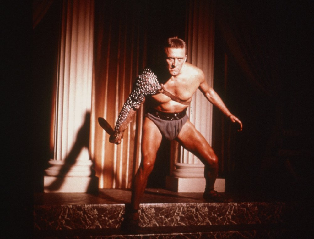Image result for young kirk douglas obituary spartacus