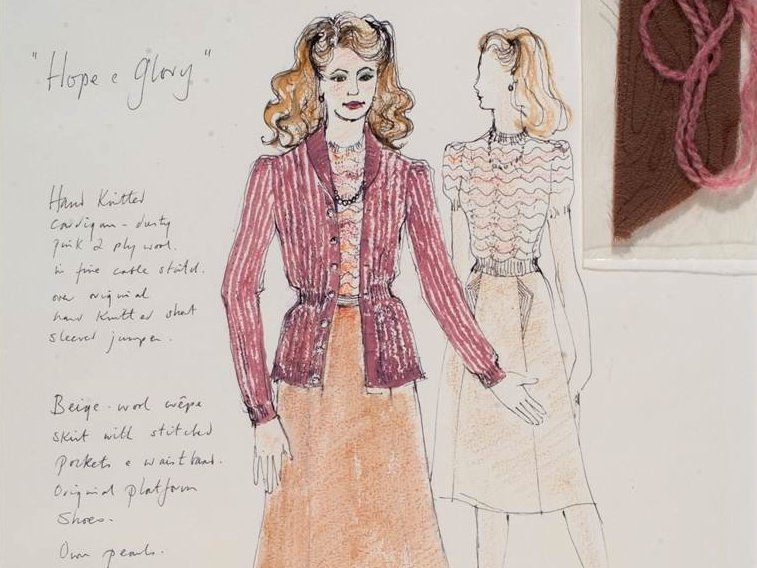 Shirley Russell's costume design for Grace Rohan (Sarah Miles) in Hope and Glory