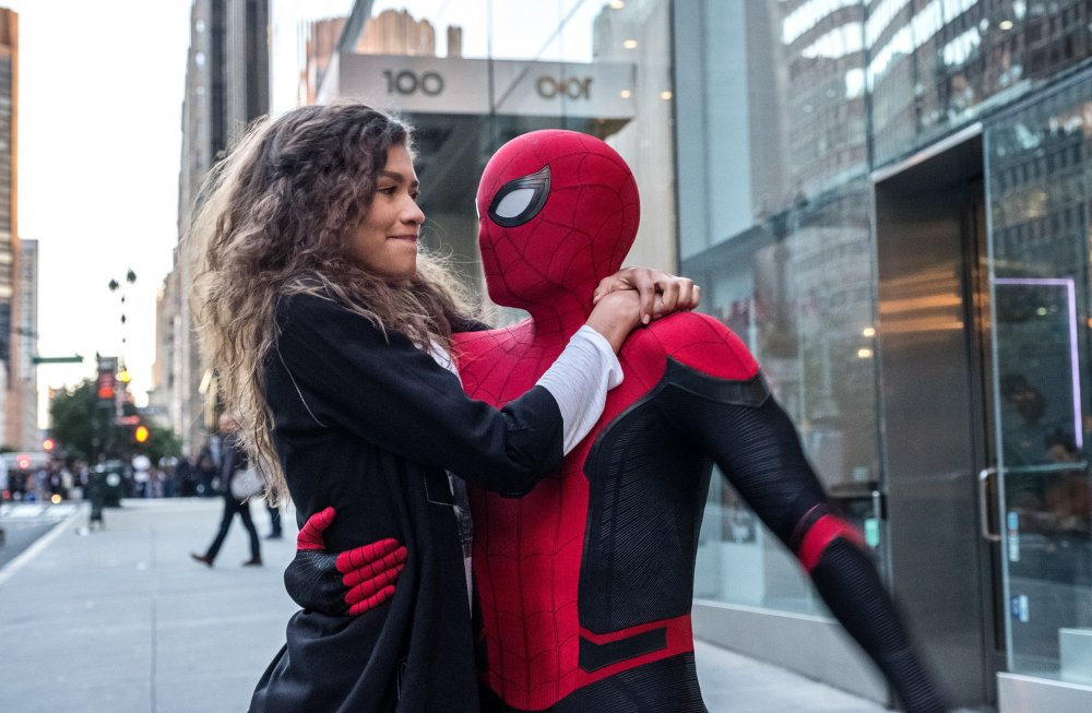 Zendaya as MJ and Tom Holland as Peter Parker in Spider-Man: Far from Home