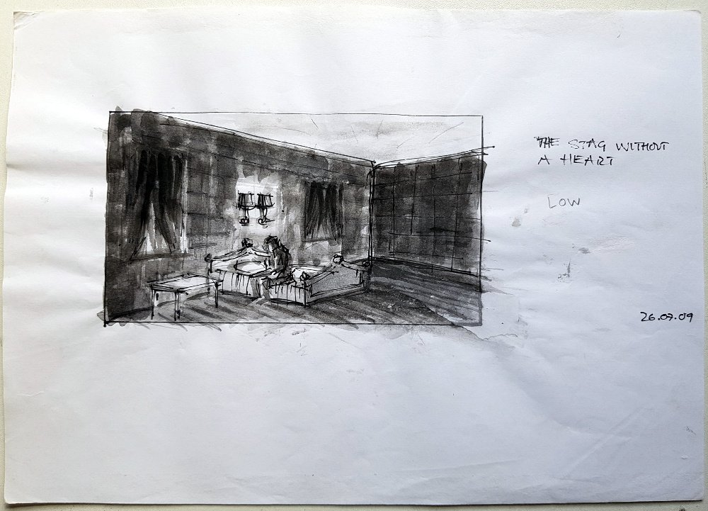 Storyboard for The Stag without a Heart (2010)