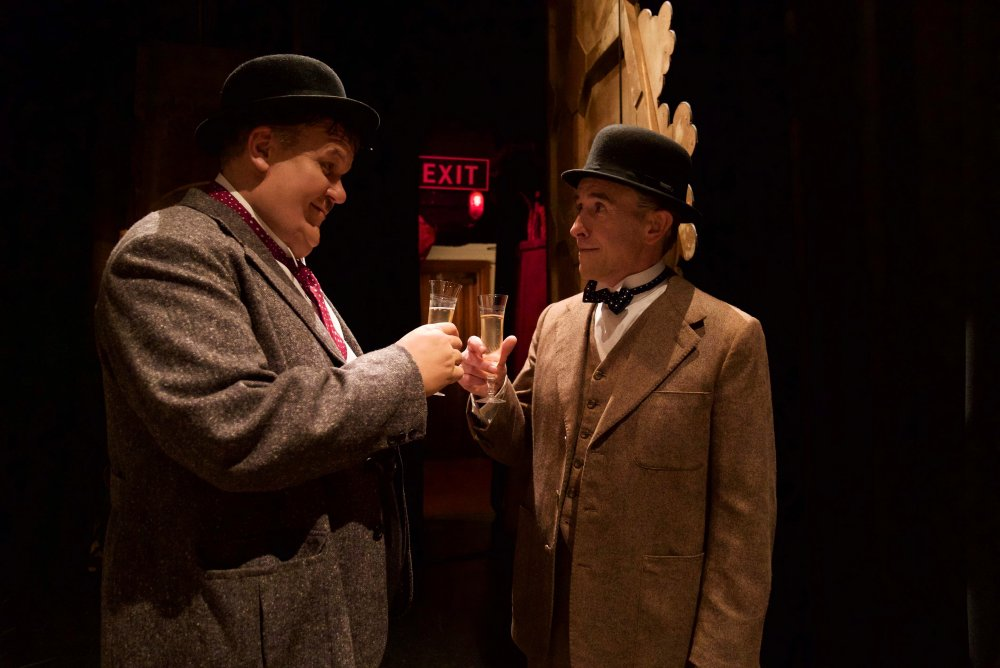 """John C. Reilly as Oliver Hardy and Steve Coogan as Stan Laurel in Stan <span class=""""amp"""">&</span> Ollie"""