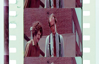 A frame from William Huyck's Messiah of Evil featured in Standard Gauge (1984); Morgan Fisher is on the right