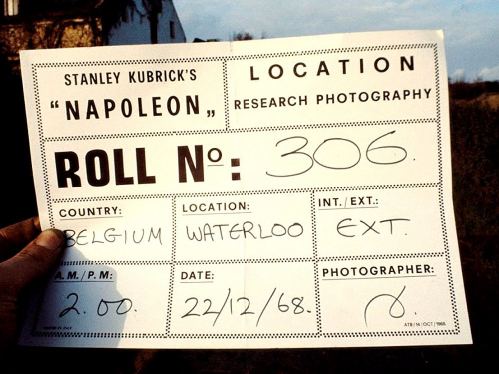 Napoleon location slate, 1968