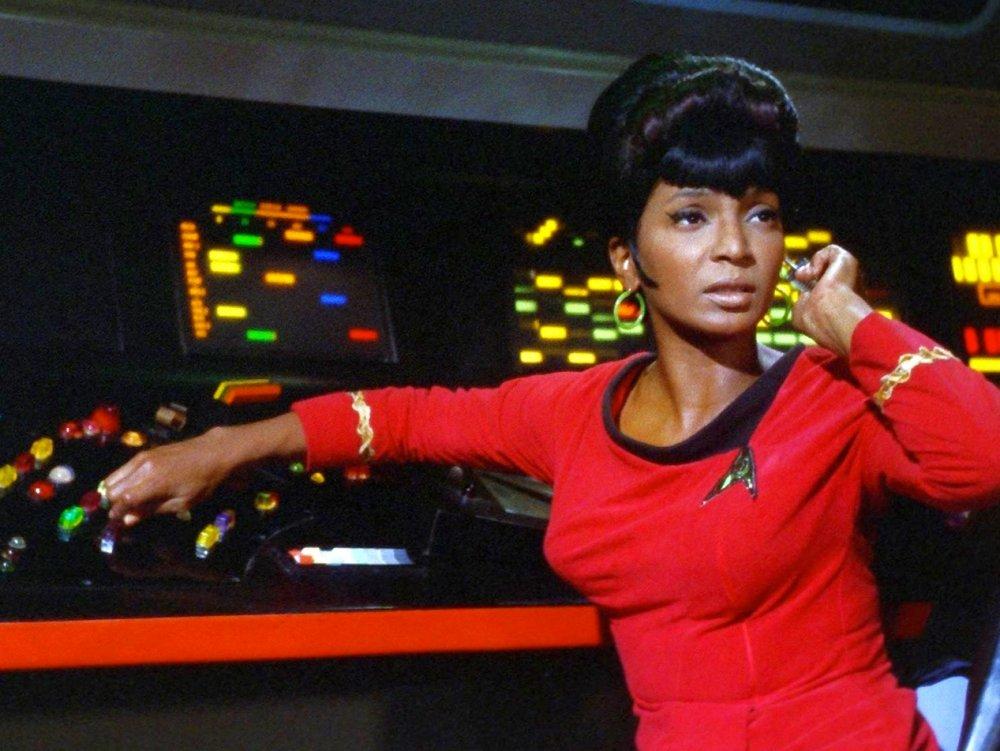 Nichelle Nichols as Uhura in Star Trek (1966)