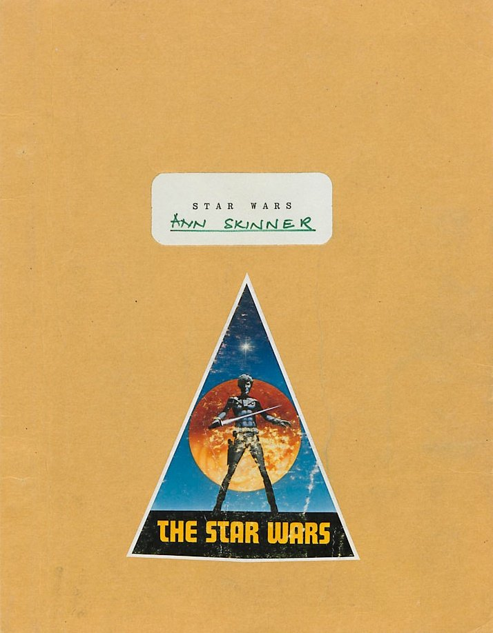 Ann Skinner's continuity script for Star Wars (1977)