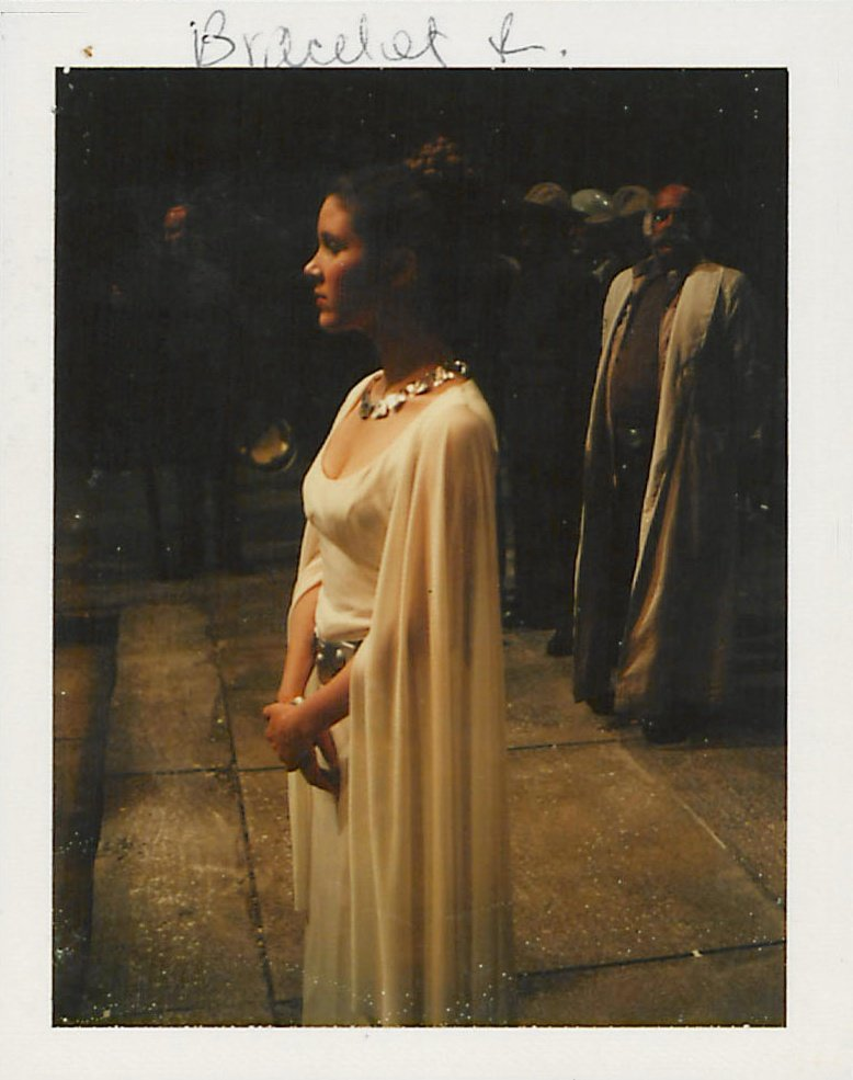 Polaroid of Carrie Fisher as Princess Leia from Star Wars (1977)