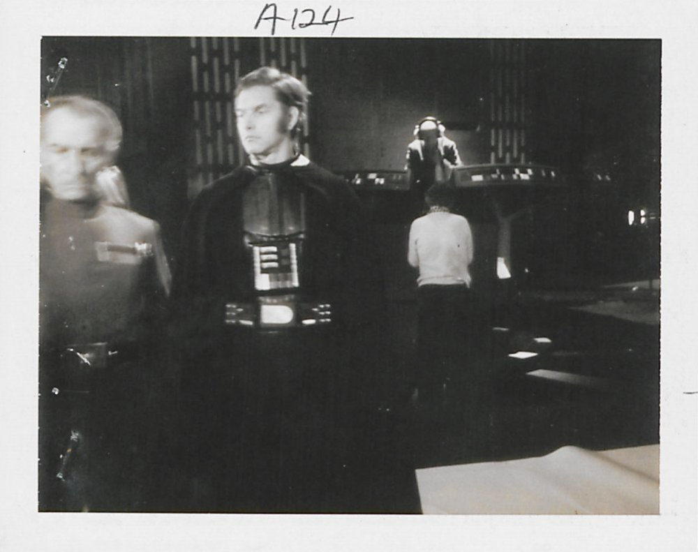 Polaroid of David Prowse as Darth Vader without the helmet
