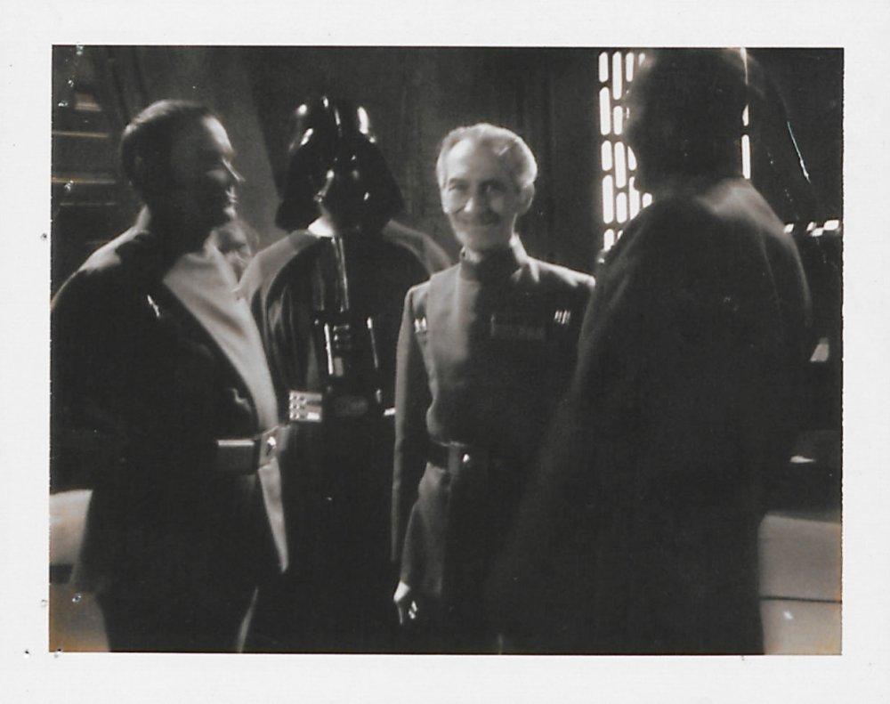 Polaroid of Peter Cushing as Grand Moff Tarkin