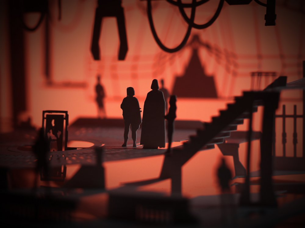 Cut Scene model inspired by Star Wars