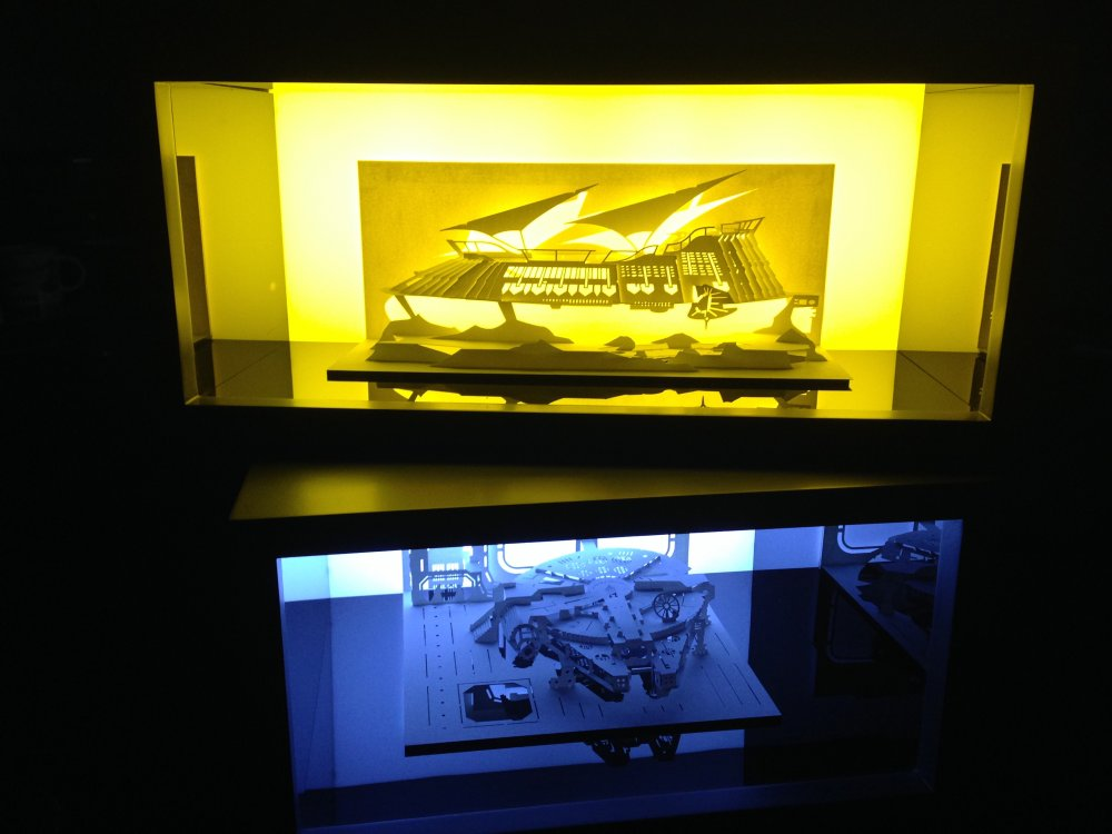The kirigami models displayed in a lightbox