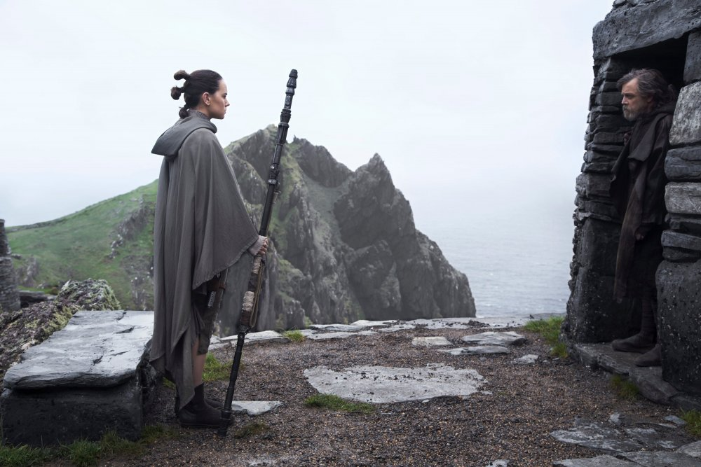 Daisy Ridley's Rey meets Mark Hamill's Luke Skywalker in Star Wars  Episode VIII  The Last Jedi