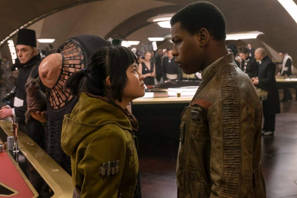 Kelly Marie Tran as Rose Tico and John Boyega as Finn