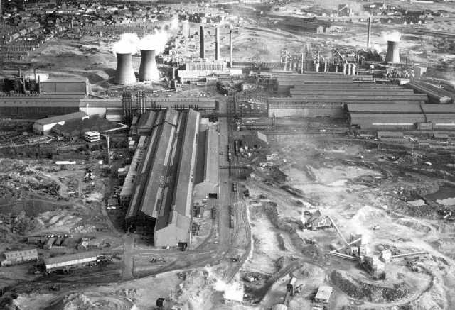 Iron and steel works in Consett, County Durham
