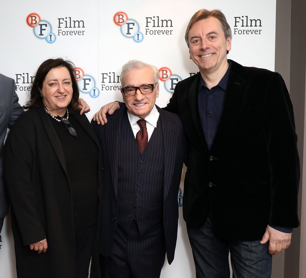 Heather Stewart, Martin Scorsese and Nick James at BFI Southbank in 2017