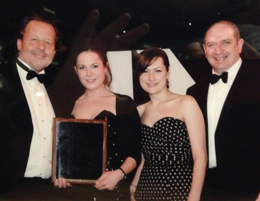 The Barford's team (Tim Mein, left) winning the 2011 IVCA Silver Award in Practical Training for Royal Mail film Security in your Responsibility