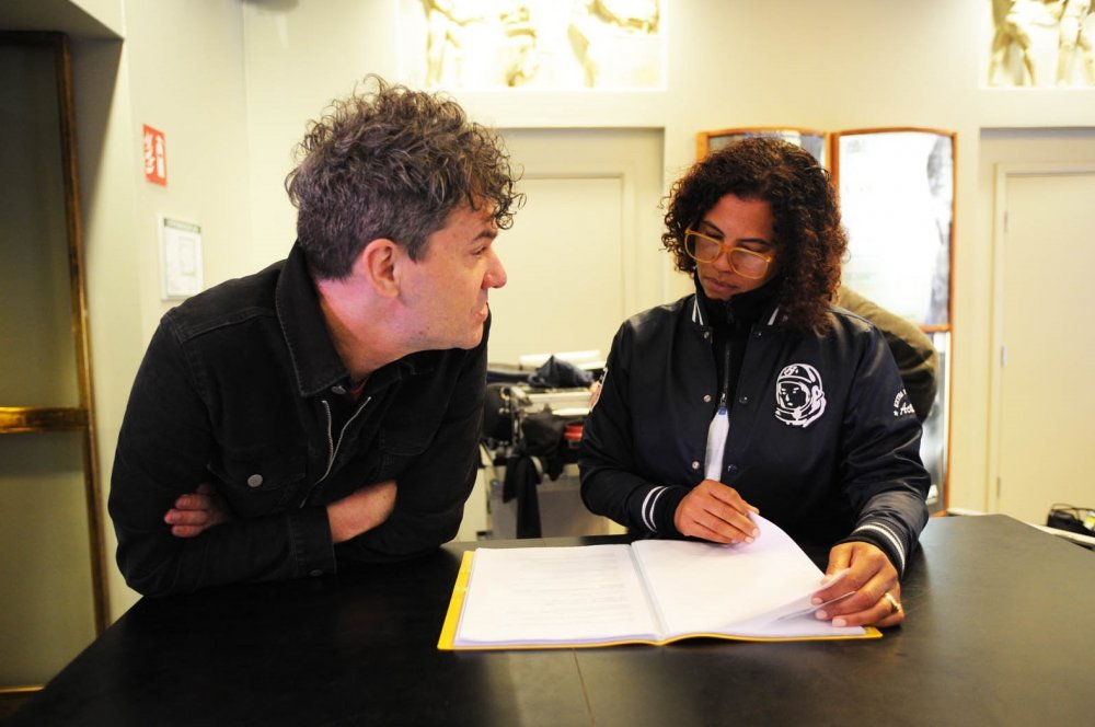Mark Cousins and Neneh Cherry in production on Stockholm My Love (2016)