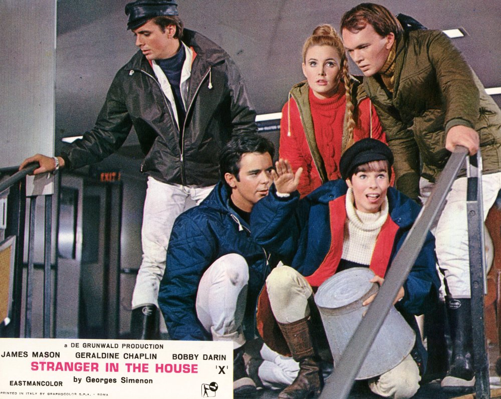 Publicity lobby card for Stranger in the House (1967)