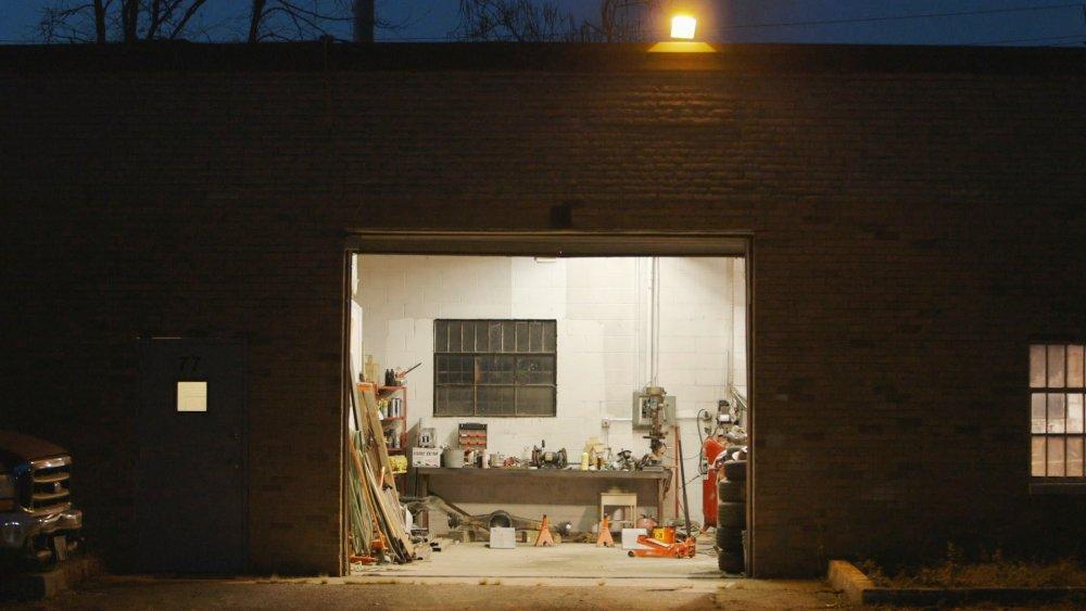 The garage in which William was shot