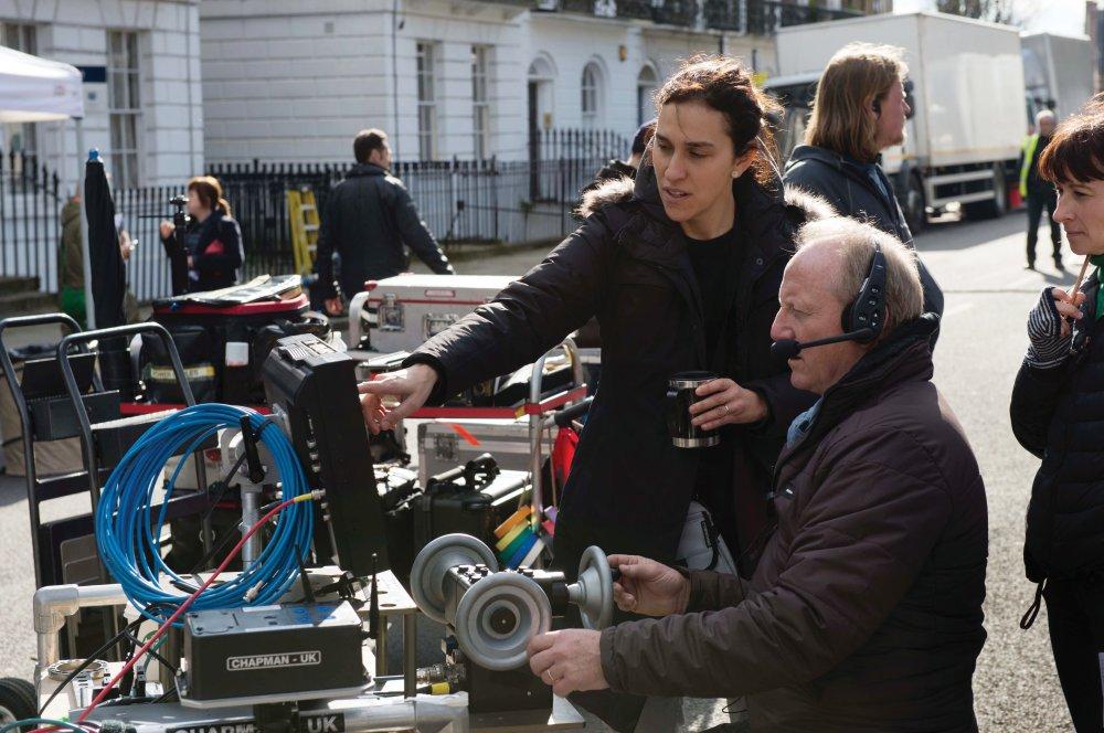Sarah Gavron on set with Steadicam operator Peter Robertson