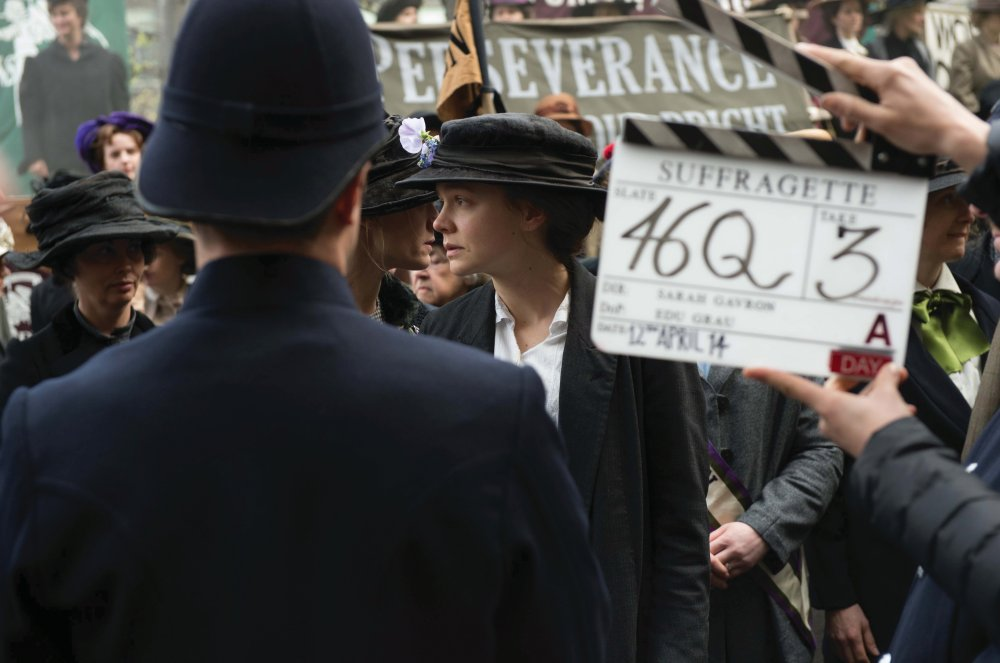 Carey Mulligan on the set of Suffragette (2015)