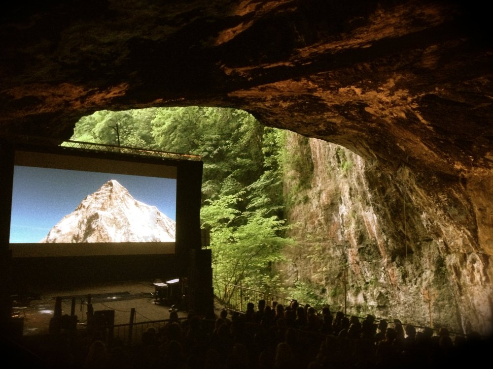 The Summit, projected inside Derbyshire's Peak Cavern