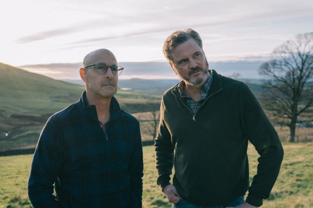 Stanley Tucci and Colin Firth in the upcoming Supernova. Producer Emily Morgan of Quiddity Films is a past recipient of a Vision Award