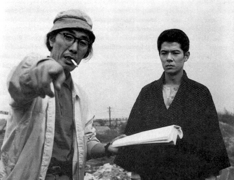 Seijun Suzuki on location