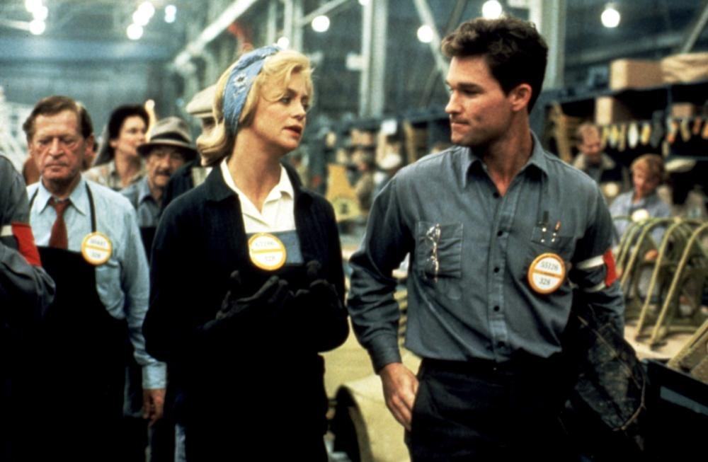 Hawn with Kurt Russell as Kay's co-worker and trumpet player Lucky Lockhart