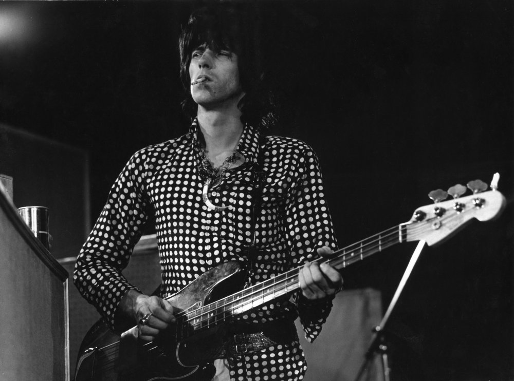 In the early stages of recording the song, lead guitarist Keith Richards is unusually seen playing bass as well as his usual Gibson Les Pauls. 'Sympathy for the Devil' was released as a single in December that year, making number 10 in the UK charts. Many other notable faces can be seen in the footage of the studio, including Anita Pallenberg, Marianne Faithfull and even James Fox who, at this point, was beginning his character research for Donald Cammell and Nicolas Roeg's Performance (made in 1968 but held over for release until 1970)