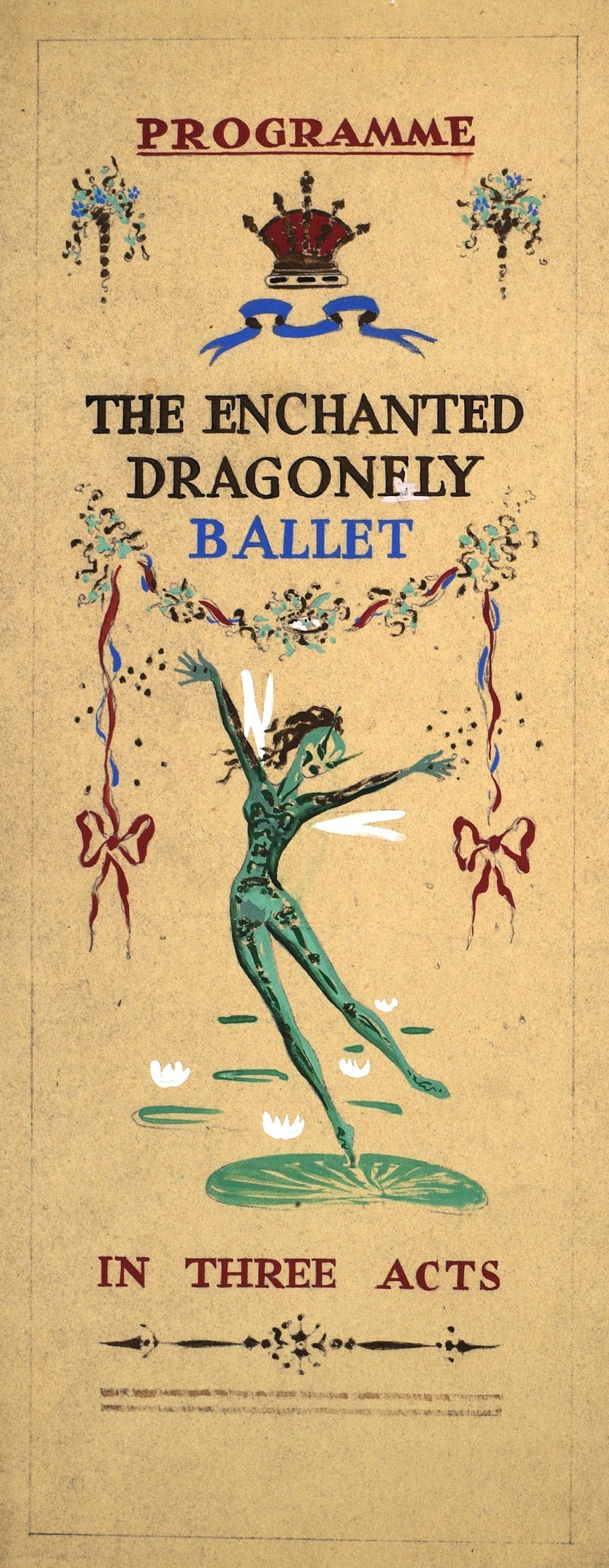 Design for programme for 'The Enchanted Dragonfly Ballet', Ivor Beddoes Collection, BFI Special Collections