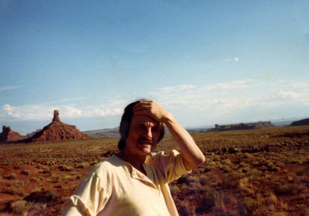 Andrei Tarkovsky in the Valley of the Gods, near Mexican Hat, Utah, 1983