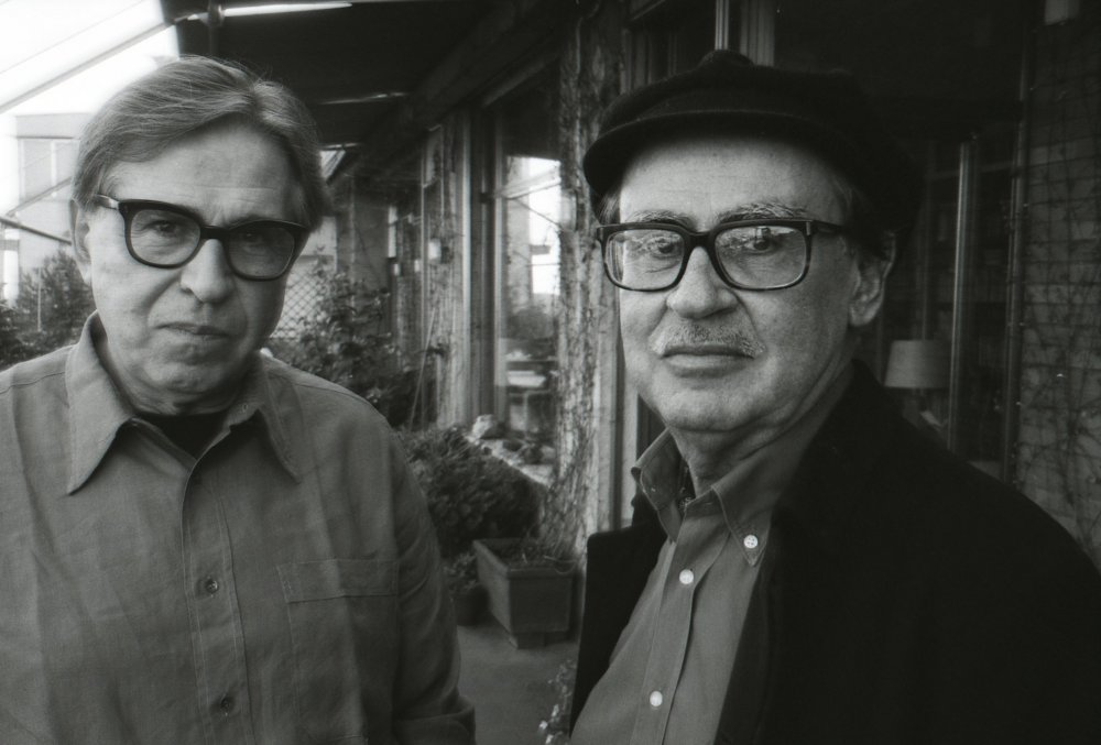 Vittorio Taviani (right) with his brother Paolo