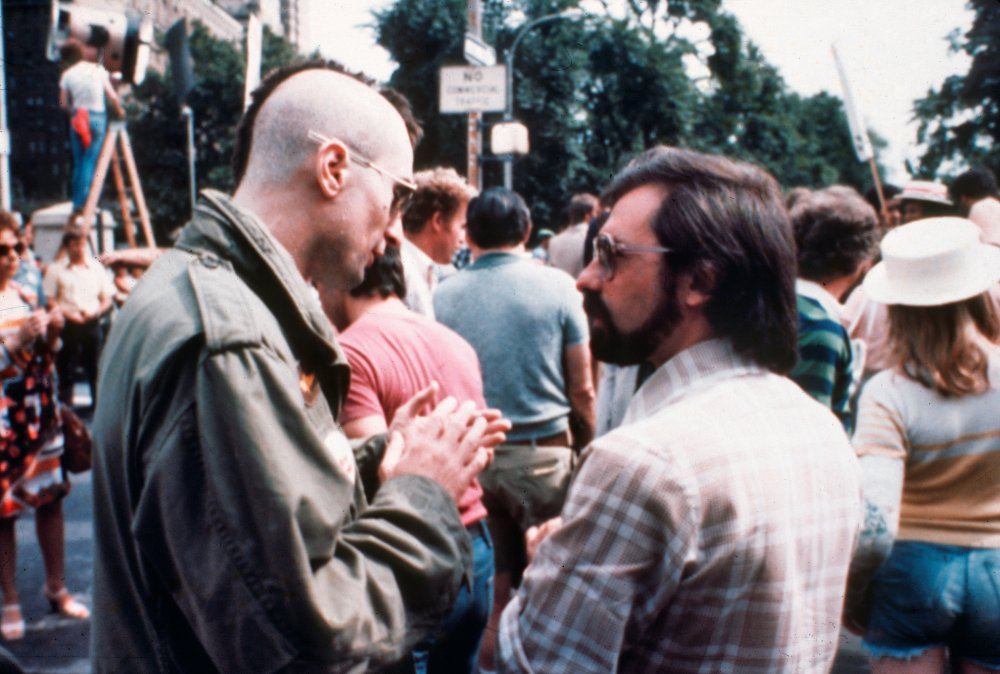 Robert De Niro and Martin Scorsese during production of Taxi Driver (1976)