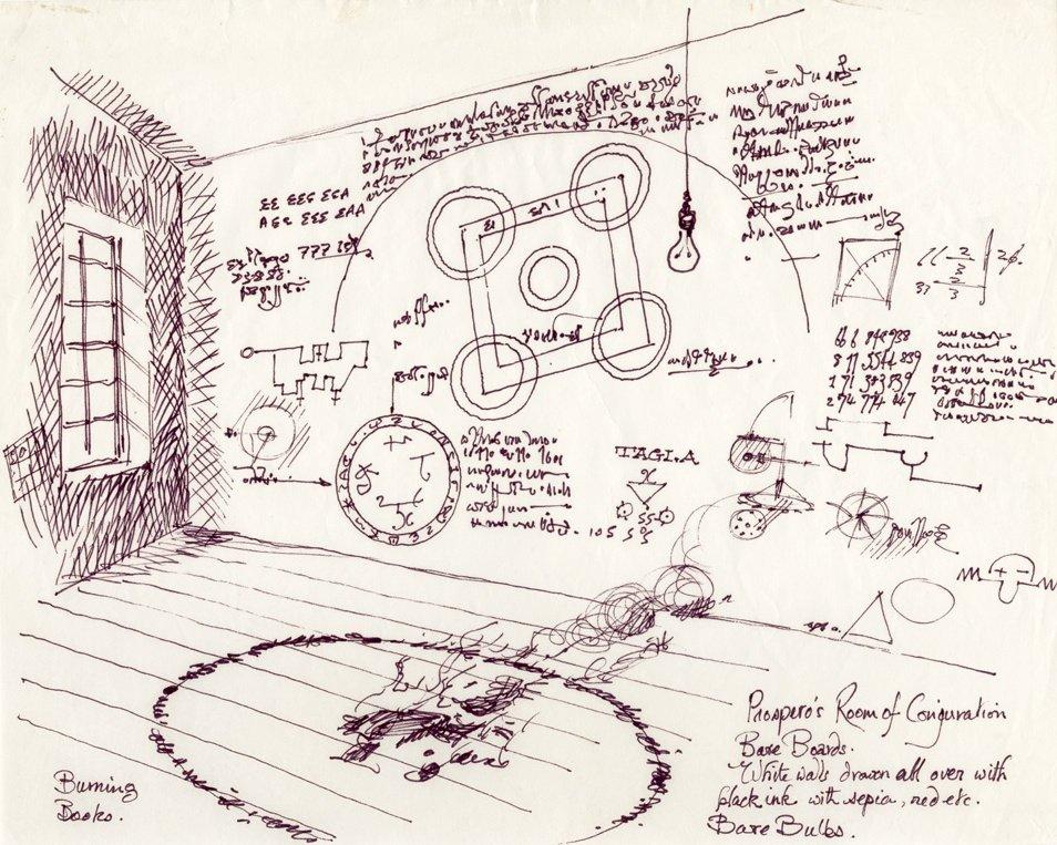 Design by Christopher Hobbs for Prospero's room in The Tempest (1979)
