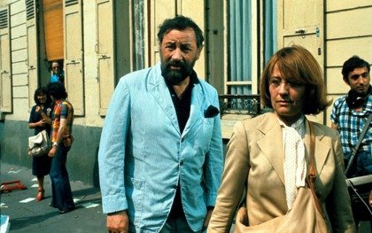 With Philippe Noiret in Philippe de Broca's Tendre poulet (Dear Detective / Tender Cop, 1977)