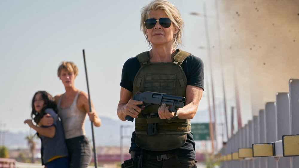 Линда Гамильтон в роли Сары Коннор в Терминаторе: Темная Судьба