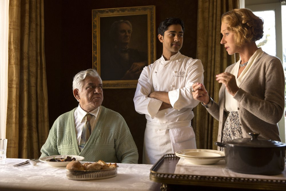 As Papa Kadam with Manish Dayal and Helen Mirren in The Hundred-Foot Journey (2014)