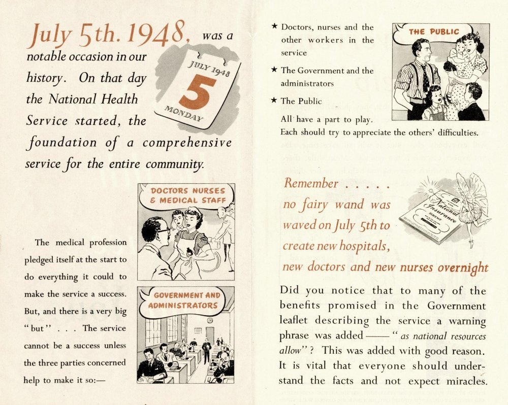 The New NHS and You, government leaflet, September 1948