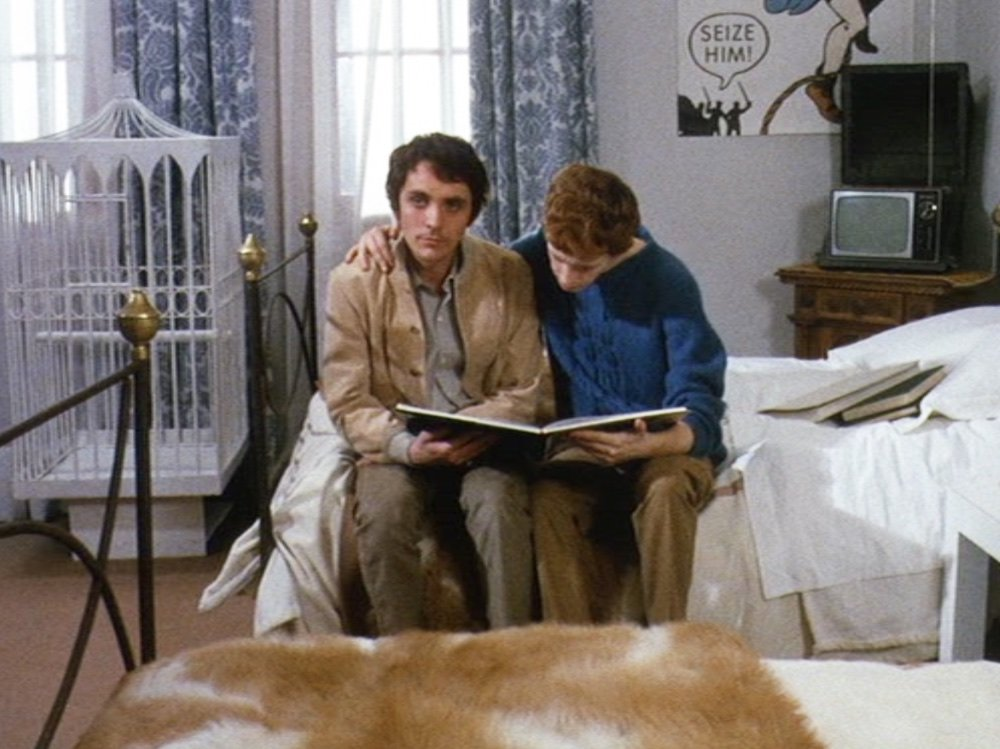Terence Stamp as the mysterious family guest in Pasolini's Theorem (1968)