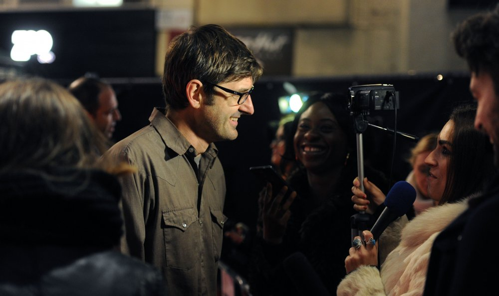 Louis Theroux on the red carpet at the London Film Festival premiere of My Scientology Movie (2015)