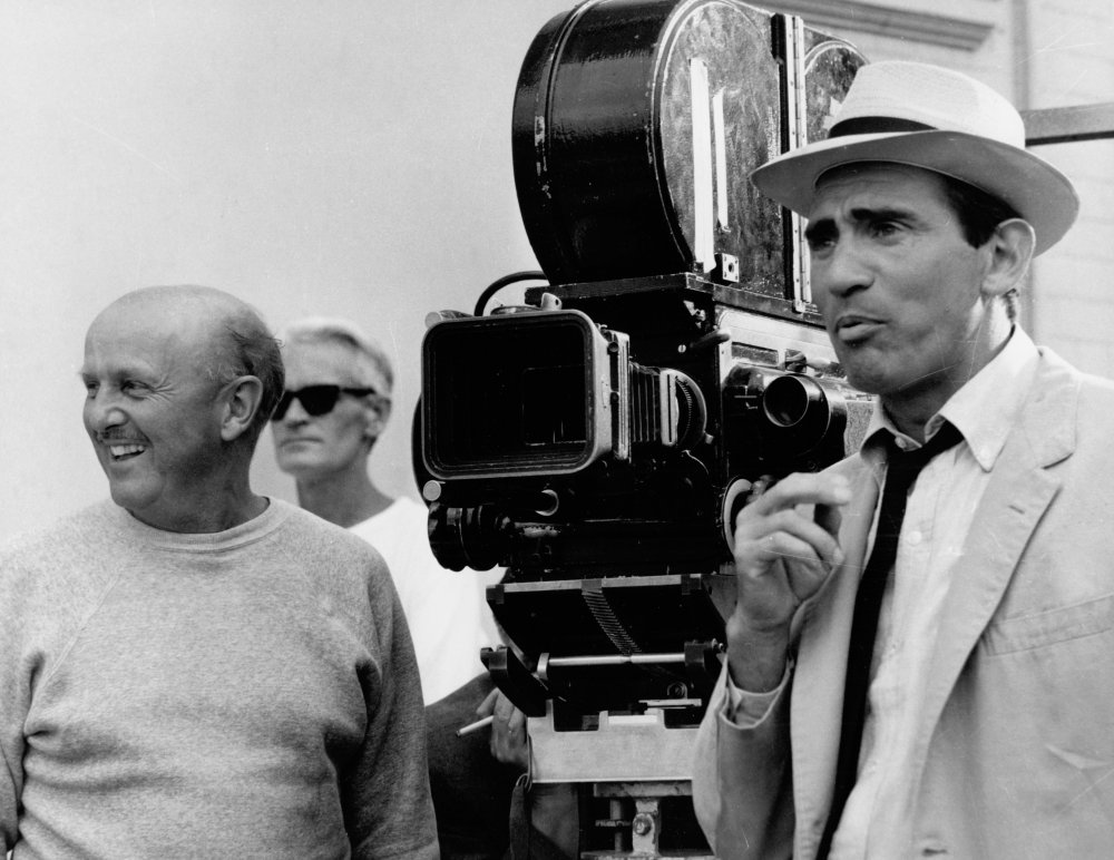 Michael Powell filming They're a Weird Mob (1966)
