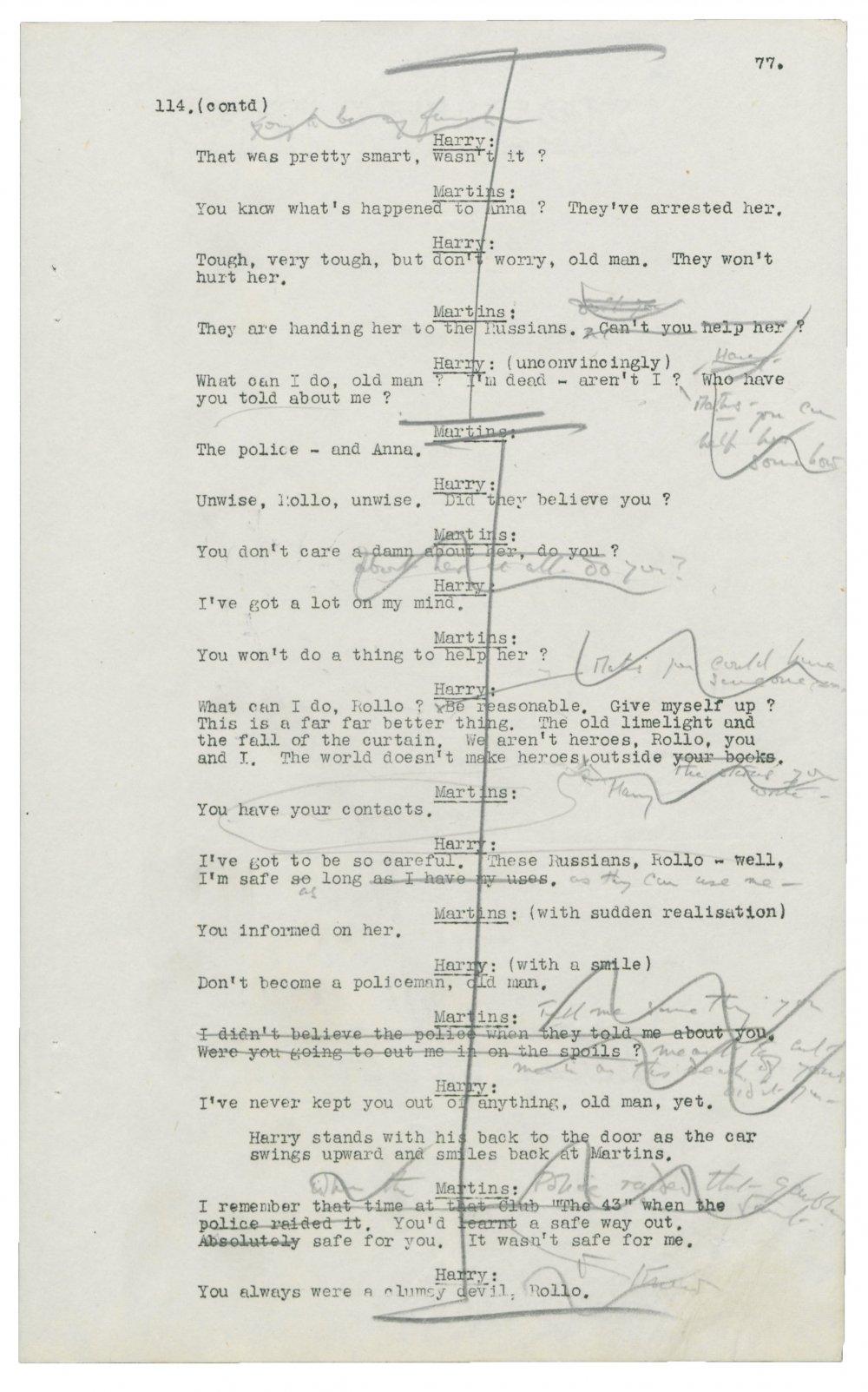 The Third Man (1949) script page