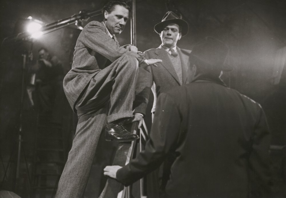 Reed and Cotten with Welles